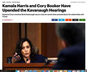 Clickbait - Kamala Harris and Cory Booker Upend Kavanaugh Hearings